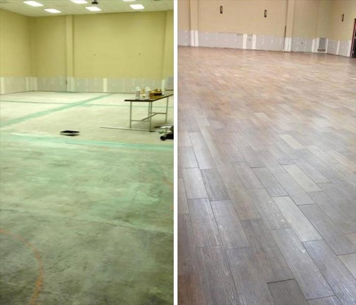Somers Point Church Recreation Room Water Restoration After